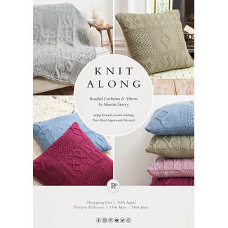 Knit Along 2019 - Beaded Cushion`s & Throw by Martin Storey...Decke